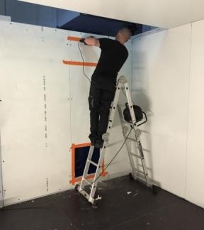 Installation du caisson de traitement d'air